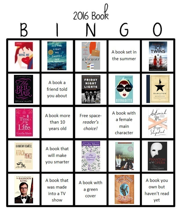 book bingo 16 (the knockoff)