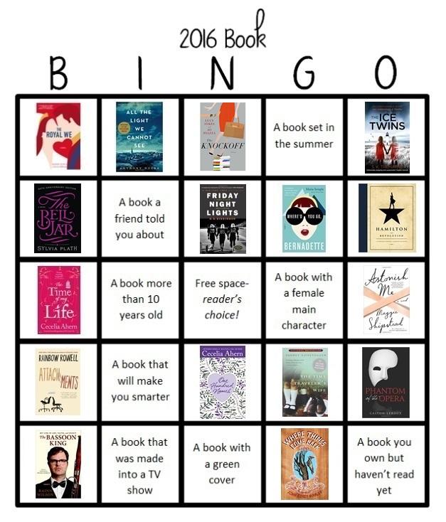 book bingo 16 (the knockoff)